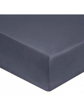 Drap house anthracite grand bonnet 40cm percale de coton 80fils